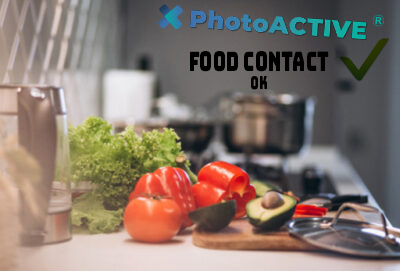 Food contact est valable avec photoactive