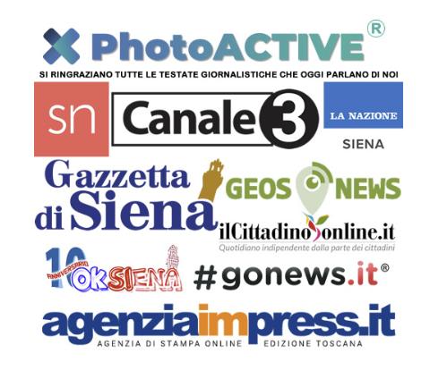 journaux de presse italienne associé a photoactive