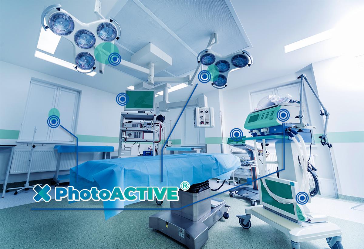 photoACTIVE antimicrobien permanent dans les hopitaux, les cliniques, les cabinets medicaux