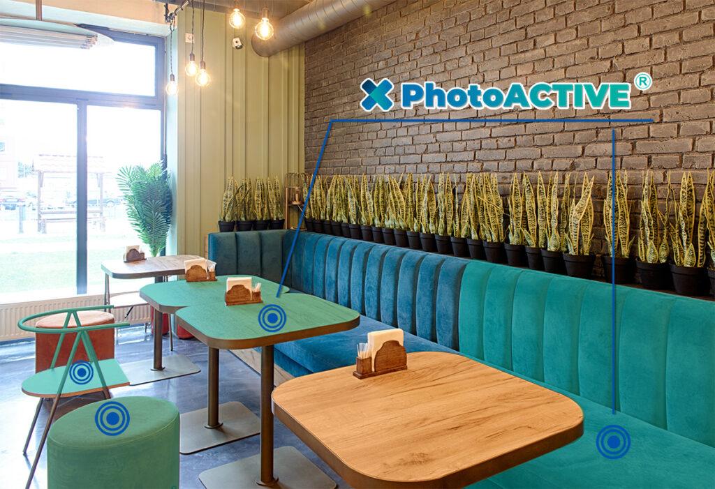 photoACTIVE antimicrobien permanent pour les restaurants et les bars